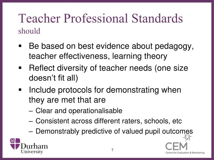 Teacher Professional Standards