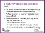 teacher professional standards should