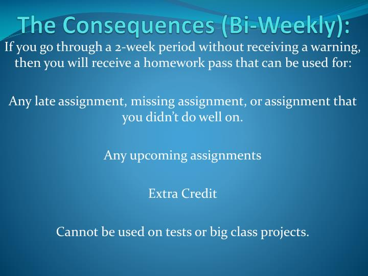The Consequences (Bi-Weekly):