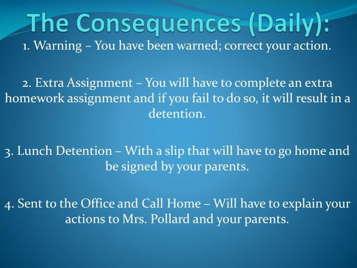 The Consequences (Daily):