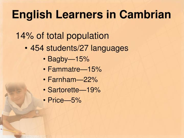 English Learners in Cambrian