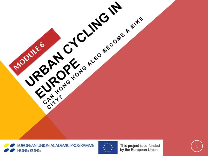 Urban cycling in europe