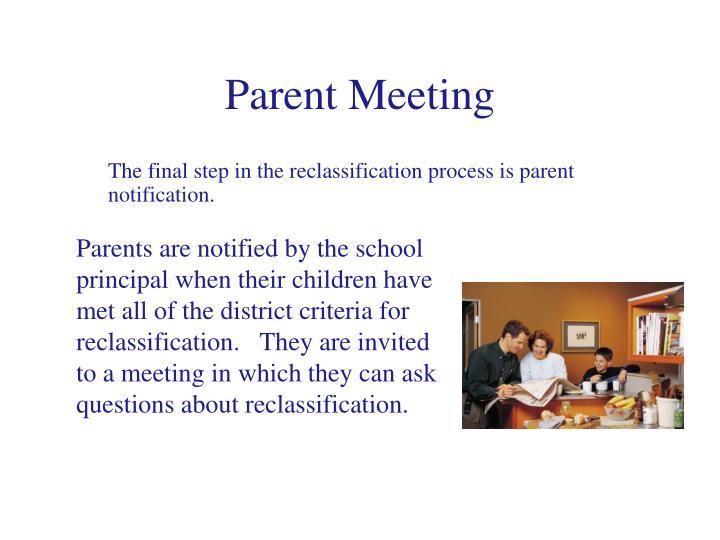 Parent Meeting