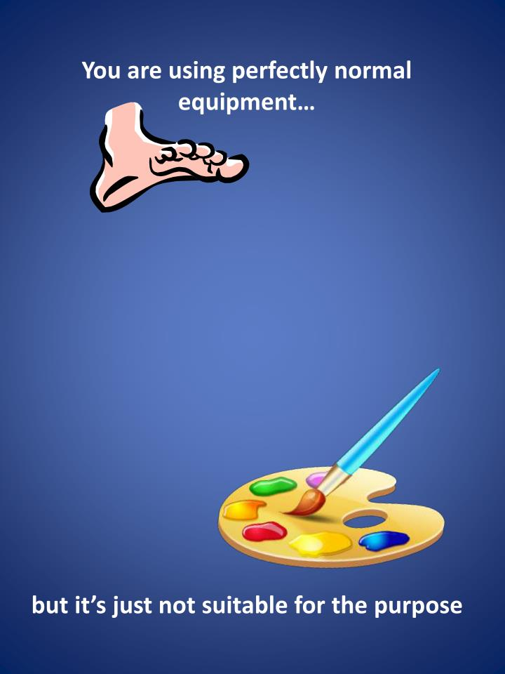 You are using perfectly normal equipment…