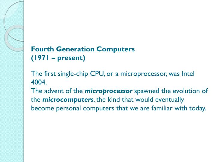 Fourth Generation Computers