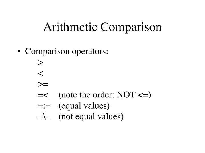 Arithmetic Comparison