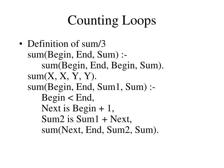 Counting Loops