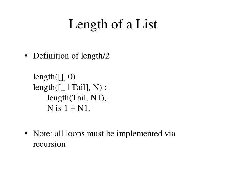 Length of a List