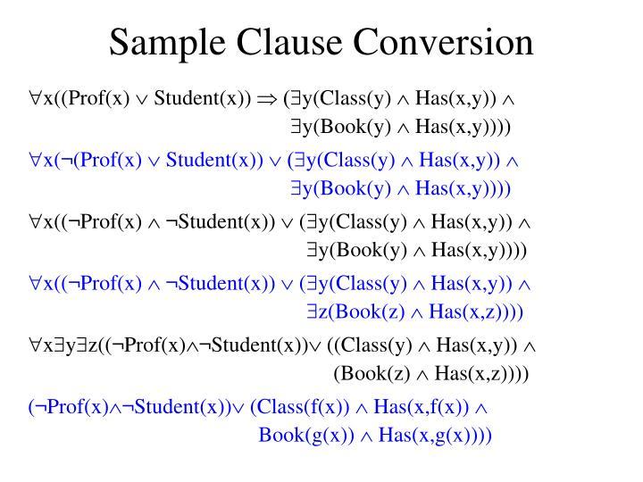 Sample Clause Conversion