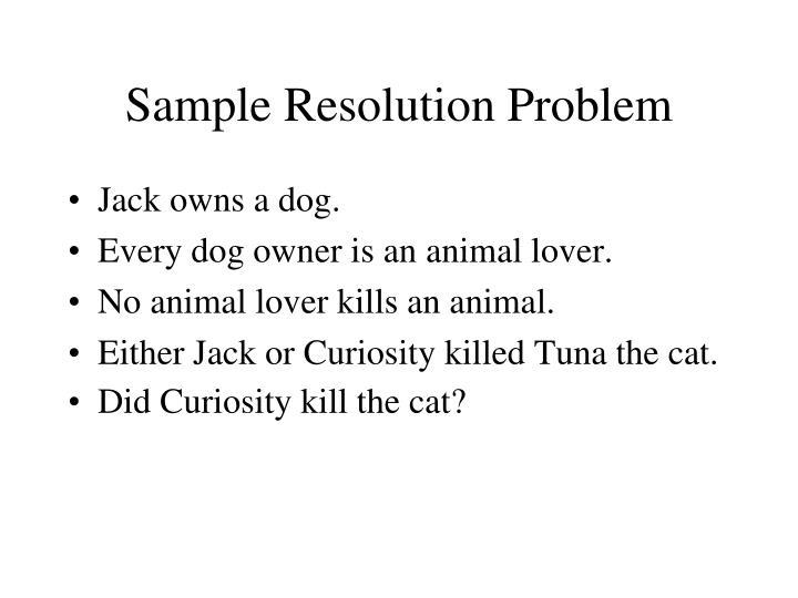 Sample Resolution Problem