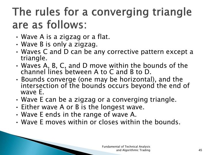 The rules for a converging triangle are as follows: