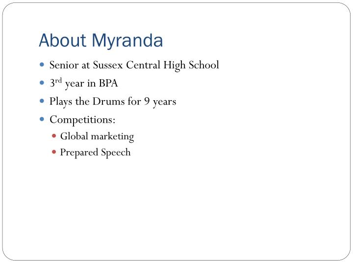 About myranda