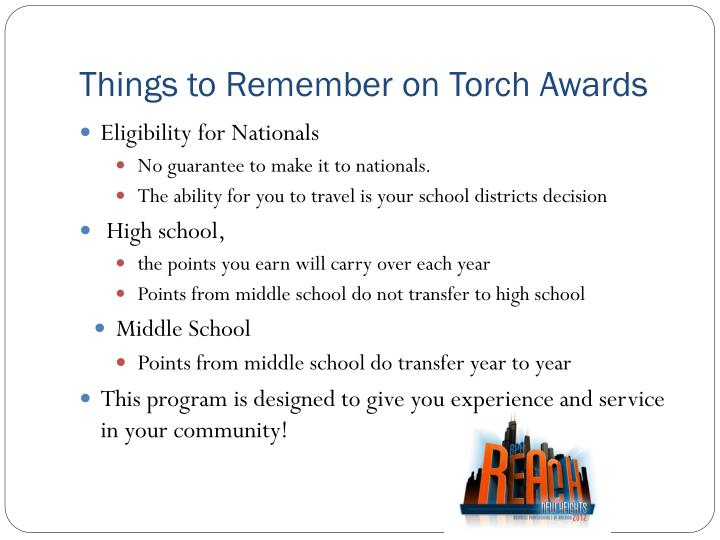 Things to Remember on Torch Awards