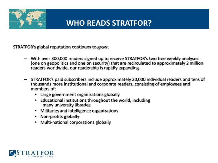 WHO READS STRATFOR?