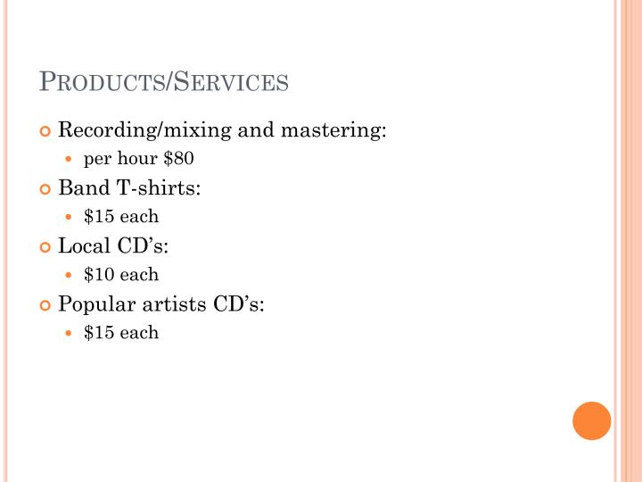 Products/Services