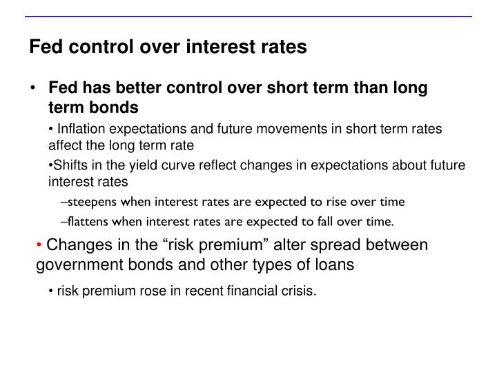 Fed control over interest rates