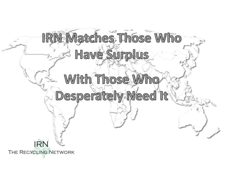 IRN Matches Those Who Have Surplus