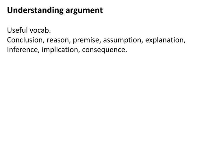 Understanding argument