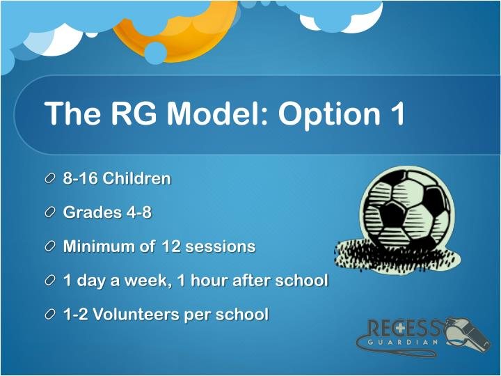 The RG Model: Option 1