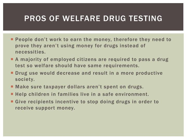thesis statement for drug testing for welfare