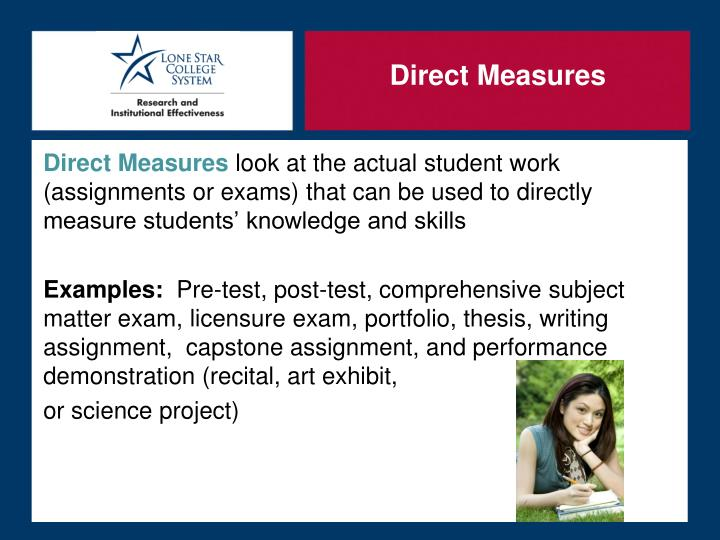 Direct Measures