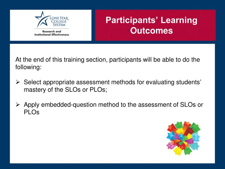 Participants' Learning Outcomes