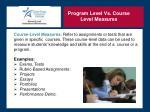 program level vs course level measures1