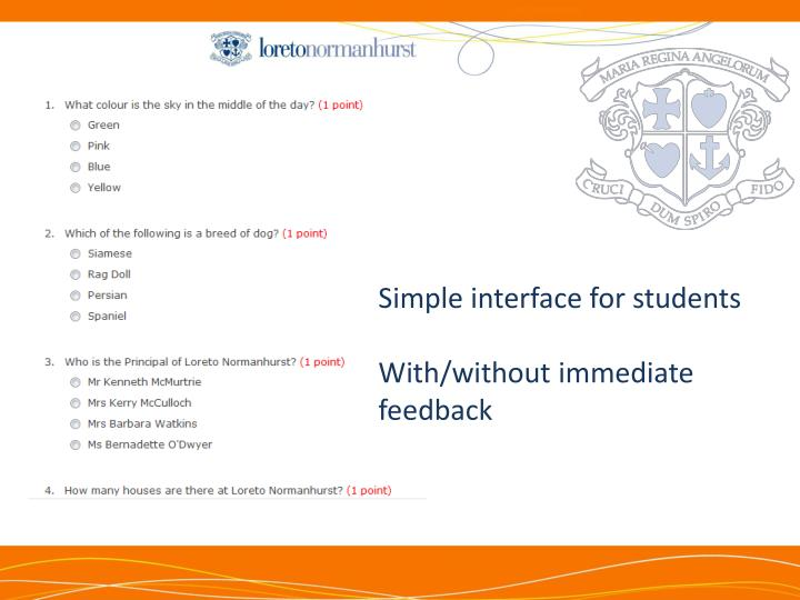 Simple interface for students