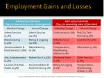 employment gains and losses