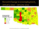 percent change in unemployment january 2010 january 2011