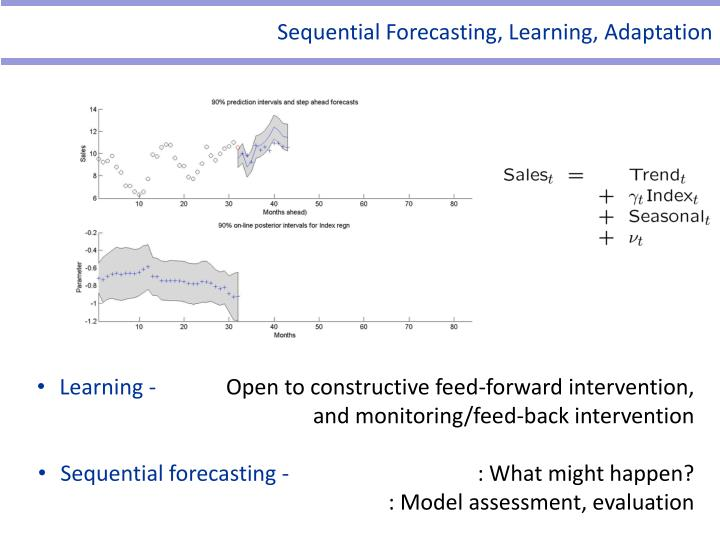 Sequential Forecasting, Learning, Adaptation