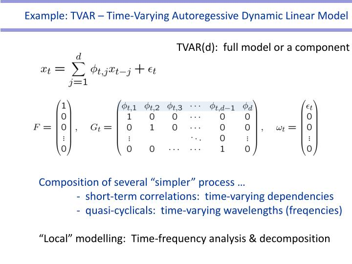 Example: TVAR – Time-Varying