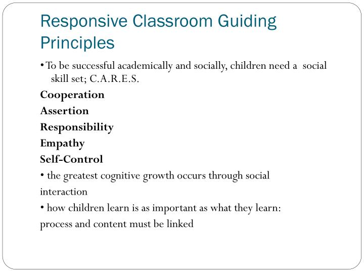 Collaborative Problem Solving Responsive Classroom : Ppt the responsive classroom approach powerpoint