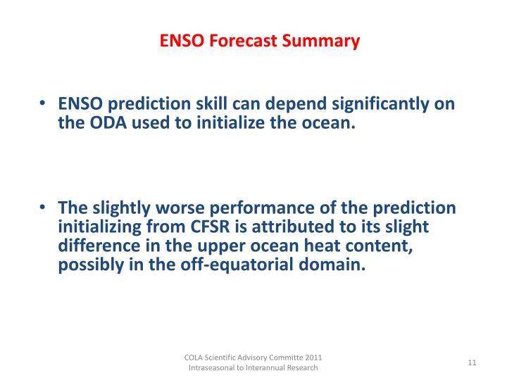 ENSO Forecast Summary