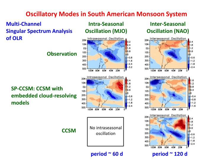 Oscillatory Modes in South American Monsoon System