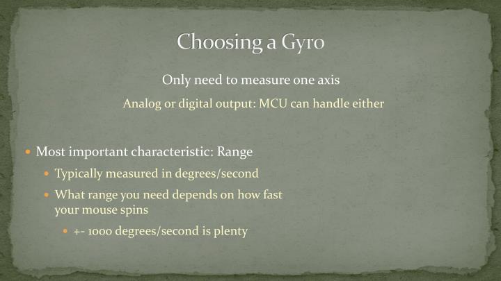 Choosing a Gyro