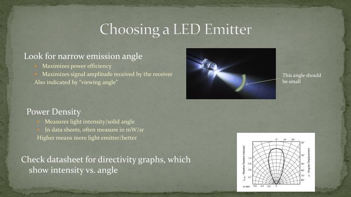 Choosing a LED Emitter