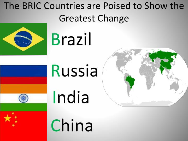 The BRIC Countries are Poised to Show the Greatest Change