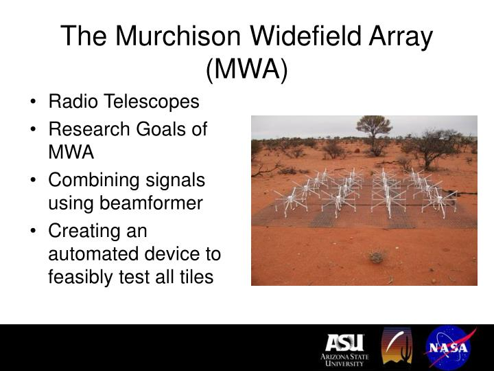 The murchison widefield array mwa