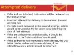 attempted delivery