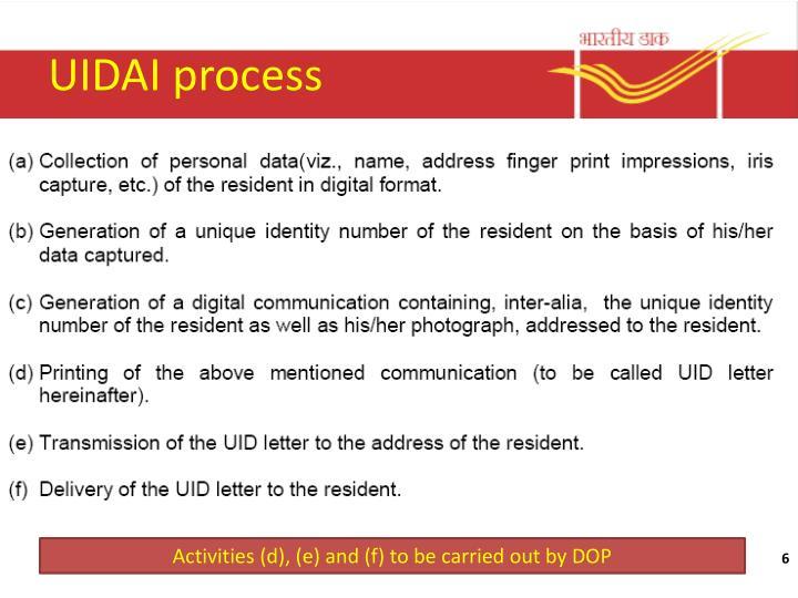 UIDAI process