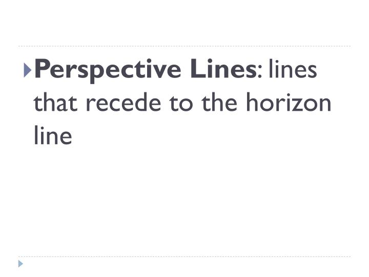 Perspective Lines