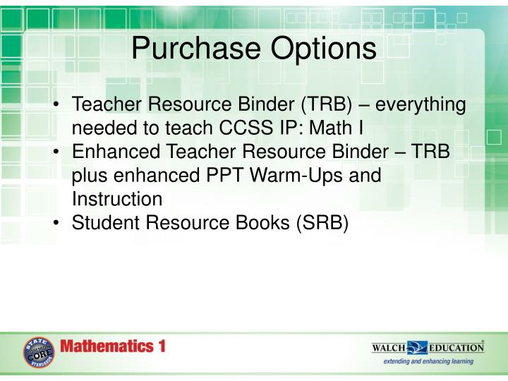 PPT - Common Core State Standards Integrated Pathway: Math ...