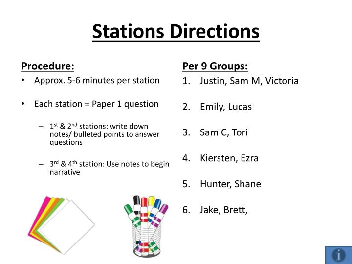 Stations Directions