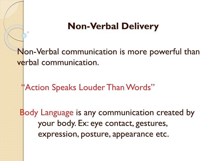 Non-Verbal Delivery