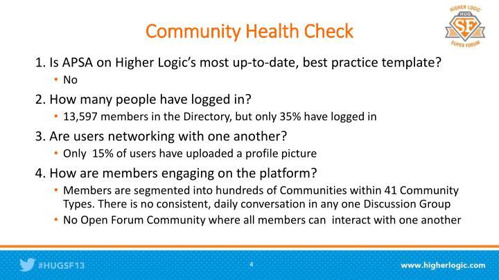 Community Health Check