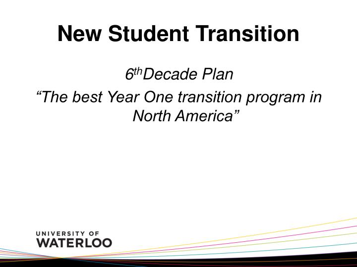 New Student Transition