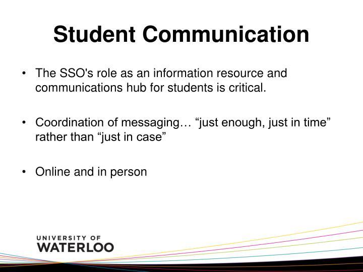Student Communication