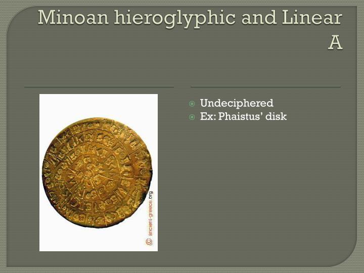Minoan hieroglyphic and