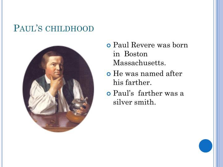 Paul's childhood